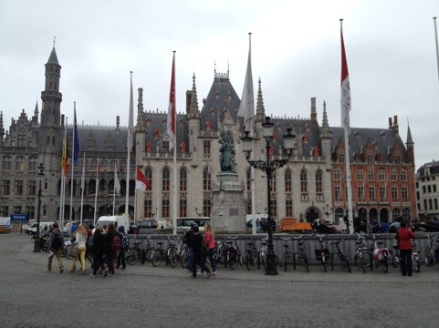 In medieval city Bruges